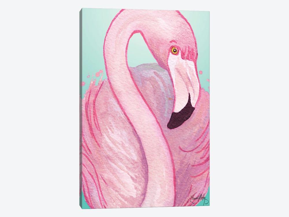 Flamingo Portrait by Elizabeth Medley 1-piece Canvas Art Print