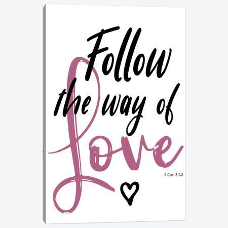 Follow Love Canvas Print #EMD99} by Elizabeth Medley Art Print