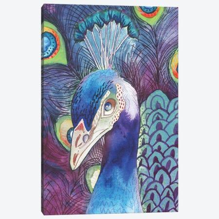 Hidden Peacock Canvas Print #EMD9} by Elizabeth Medley Canvas Artwork