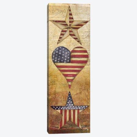 America Stars I 3-Piece Canvas #EME107} by Elizabeth Medley Canvas Print