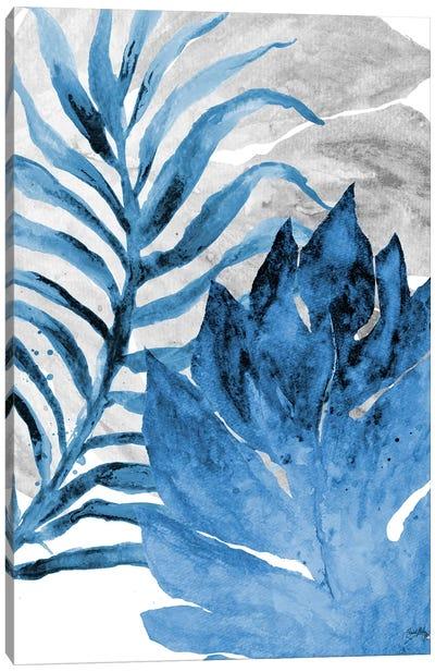 Blue Fern and Leaf I Canvas Art Print