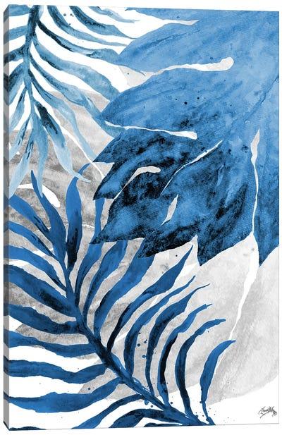 Blue Fern and Leaf II Canvas Art Print