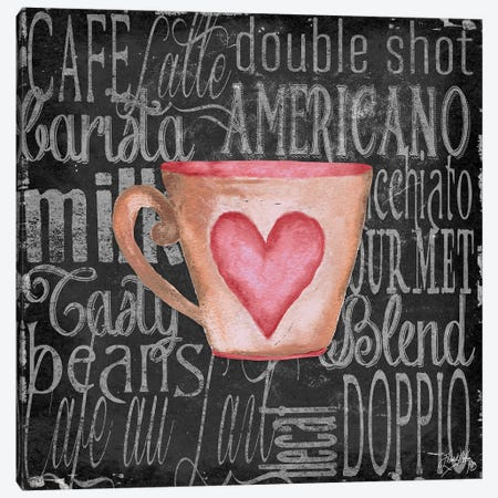 Coffee of the Day I Canvas Print #EME118} by Elizabeth Medley Canvas Print