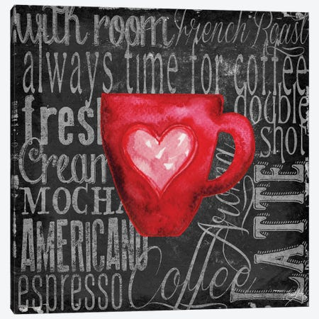 Coffee of the Day V Canvas Print #EME121} by Elizabeth Medley Canvas Artwork