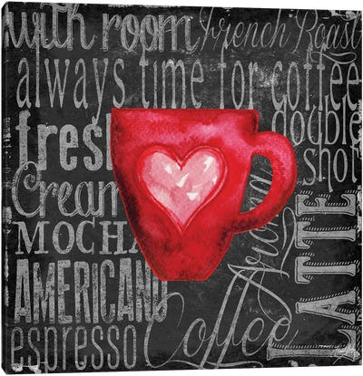 Coffee of the Day V Canvas Art Print