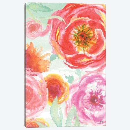 Colorful Roses I 3-Piece Canvas #EME124} by Elizabeth Medley Canvas Print