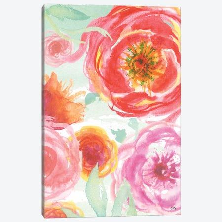Colorful Roses I Canvas Print #EME124} by Elizabeth Medley Canvas Print