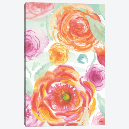 Colorful Roses II 3-Piece Canvas #EME125} by Elizabeth Medley Art Print