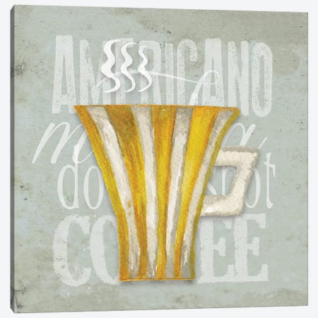 Daily Coffee I Canvas Print #EME126} by Elizabeth Medley Art Print