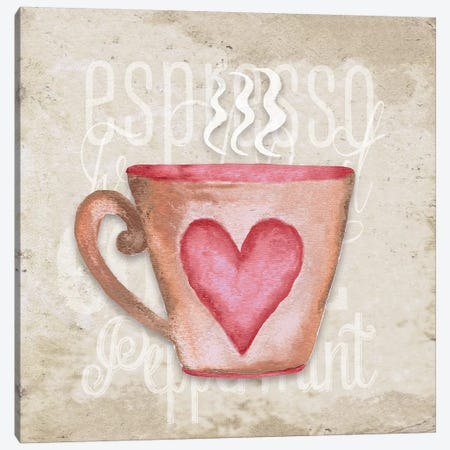 Daily Coffee III Canvas Print #EME128} by Elizabeth Medley Canvas Artwork