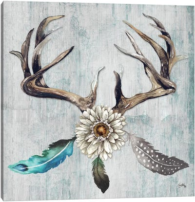 Feathery Antlers I Canvas Art Print