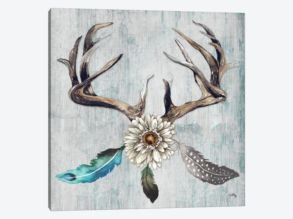 Feathery Antlers I by Elizabeth Medley 1-piece Canvas Art