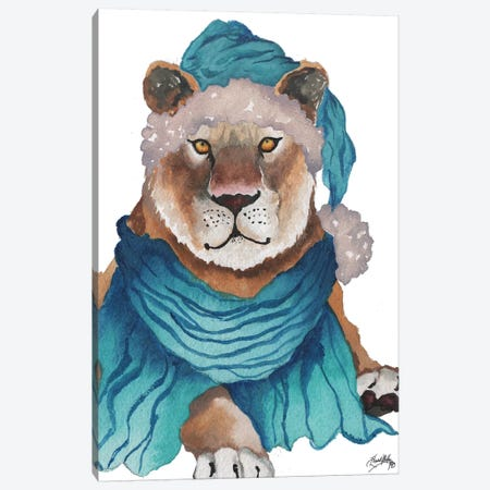 Fierce Holiday Tiger Canvas Print #EME136} by Elizabeth Medley Canvas Art