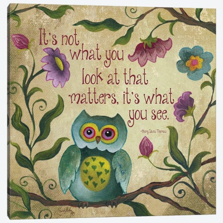 I Owl You I Canvas Print #EME143} by Elizabeth Medley Canvas Artwork
