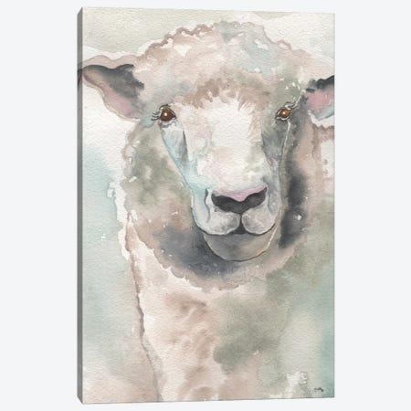Muted Lamb Canvas Print #EME154} by Elizabeth Medley Canvas Artwork