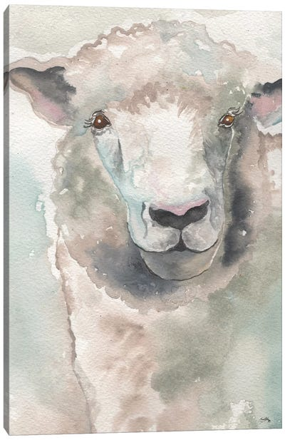 Muted Lamb Canvas Art Print