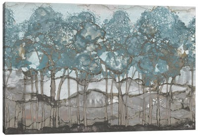 Muted Watercolor Forest Canvas Art Print
