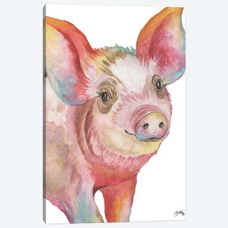Pig I Canvas Print #EME159} by Elizabeth Medley Canvas Art Print