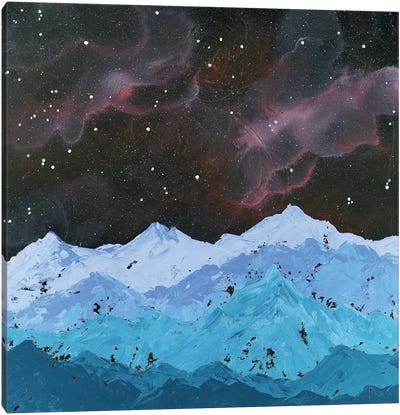 Space Mountains Canvas Art Print