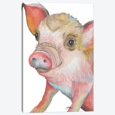 Pig II Canvas Print #EME160} by Elizabeth Medley Canvas Art