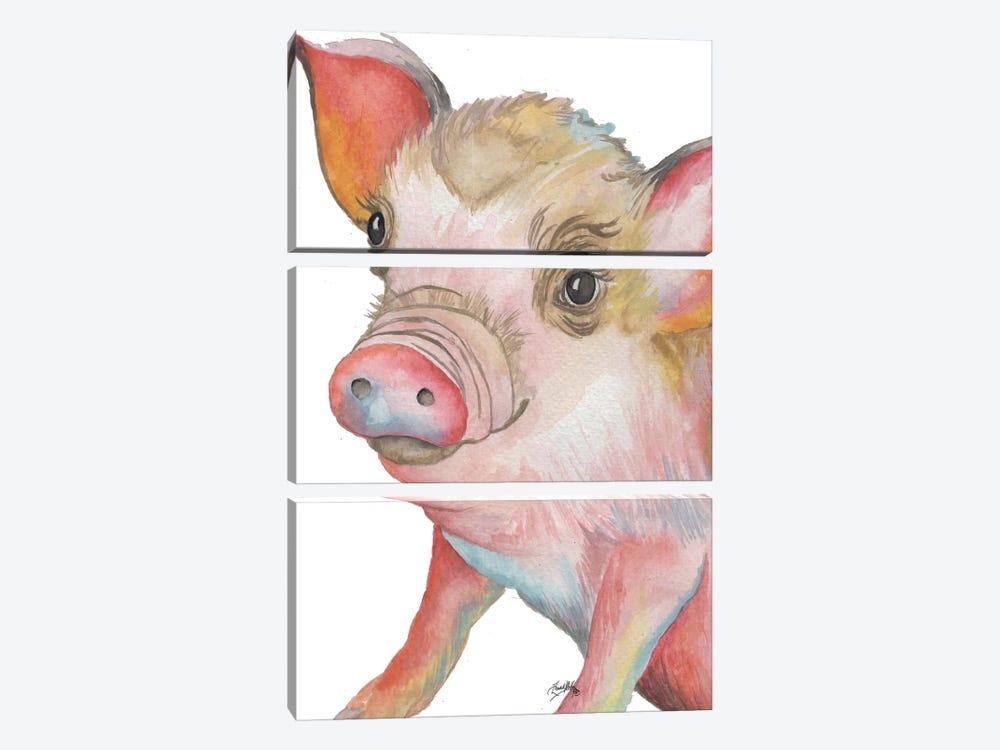 Pig II by Elizabeth Medley 3-piece Canvas Art Print