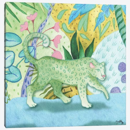 Playful Cheetah Canvas Print #EME161} by Elizabeth Medley Canvas Artwork