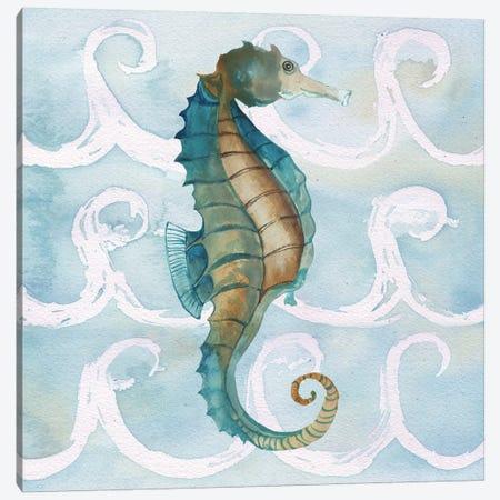 Sea Creatures on Waves II Canvas Print #EME165} by Elizabeth Medley Canvas Print
