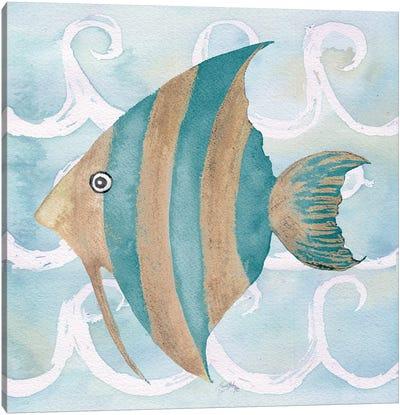 Sea Creatures on Waves IV Canvas Art Print