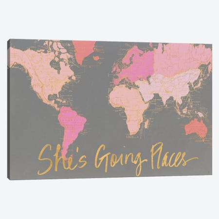She's Going Places 3-Piece Canvas #EME168} by Elizabeth Medley Canvas Art