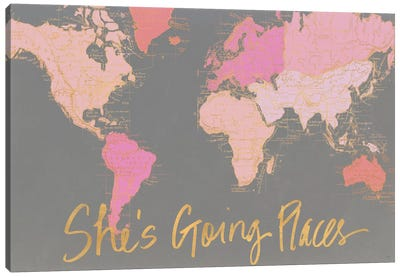 She's Going Places Canvas Art Print