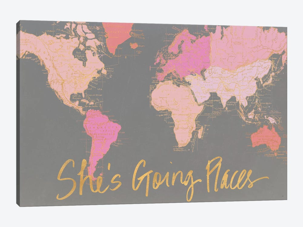 She's Going Places by Elizabeth Medley 1-piece Canvas Print