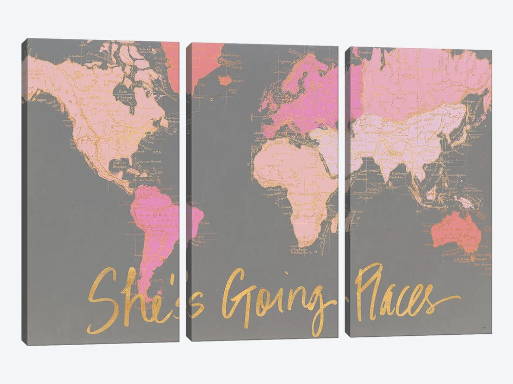 She's Going Places by Elizabeth Medley 3-piece Art Print