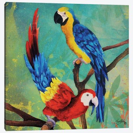 Tropical Birds in Love II Canvas Print #EME174} by Elizabeth Medley Canvas Wall Art