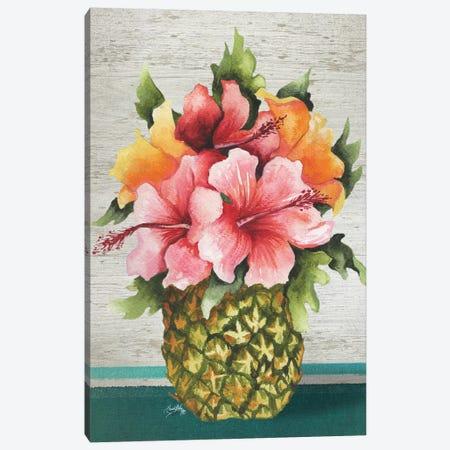 Tropical Bouquet Canvas Print #EME175} by Elizabeth Medley Canvas Wall Art