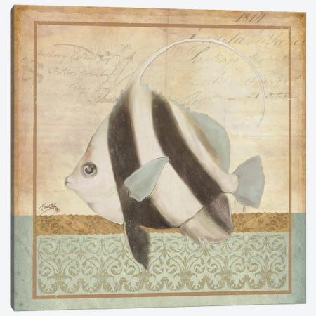 Vintage Fish I Canvas Print #EME177} by Elizabeth Medley Canvas Artwork