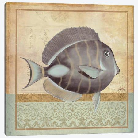 Vintage Fish II Canvas Print #EME178} by Elizabeth Medley Art Print