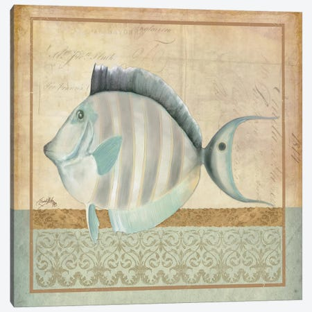 Vintage Fish III Canvas Print #EME179} by Elizabeth Medley Canvas Art Print