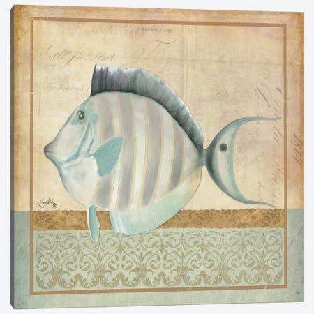 Vintage Fish III Canvas Print #EME179} by Elizabeth Medley Canvas Art Print