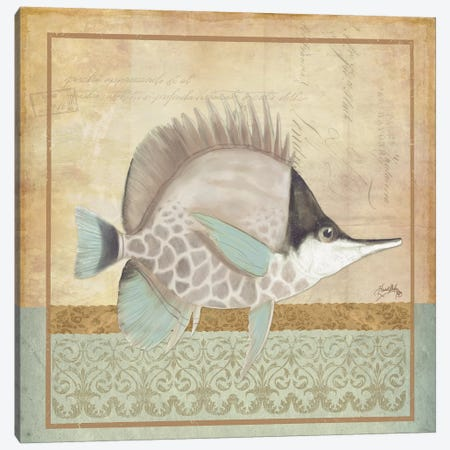 Vintage Fish IV Canvas Print #EME180} by Elizabeth Medley Canvas Wall Art