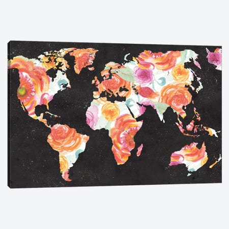 World Florals Canvas Print #EME183} by Elizabeth Medley Canvas Wall Art