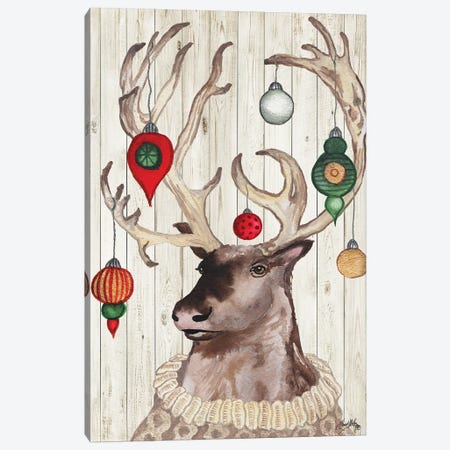 Christmas Reindeer I Canvas Print #EME198} by Elizabeth Medley Art Print