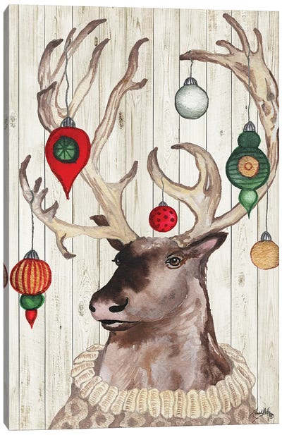 Christmas Reindeer I Canvas Art Print