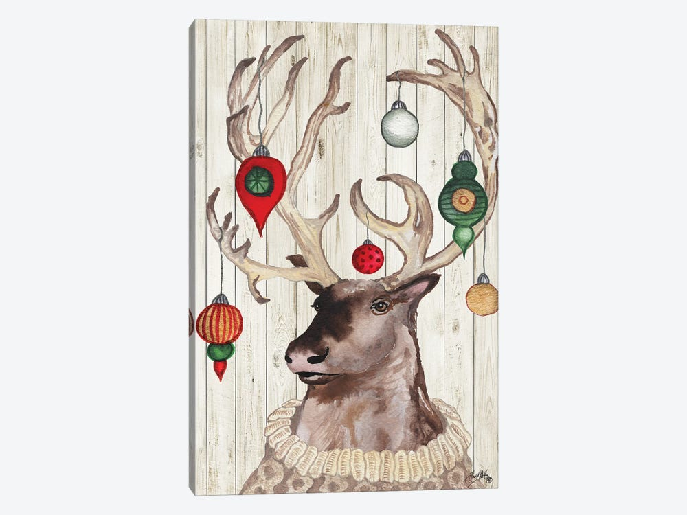 Christmas Reindeer I by Elizabeth Medley 1-piece Canvas Art