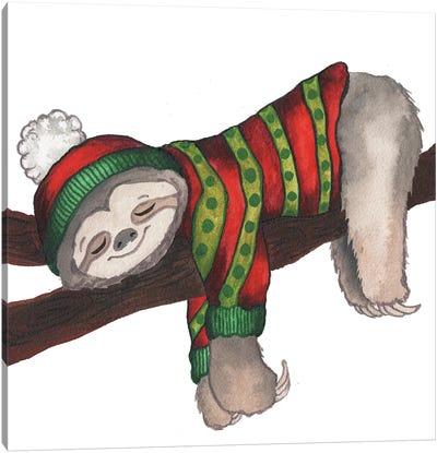 Christmas Sloth III Canvas Art Print