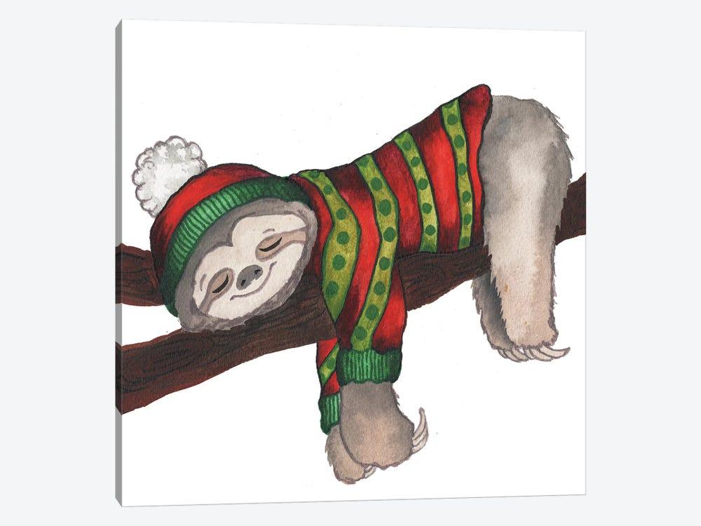 Christmas Sloth III by Elizabeth Medley 1-piece Canvas Art Print