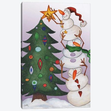 Decorating Snowmen Canvas Print #EME204} by Elizabeth Medley Canvas Art