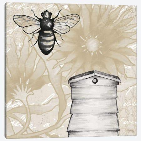 Bee Hives II 3-Piece Canvas #EME209} by Elizabeth Medley Canvas Art Print