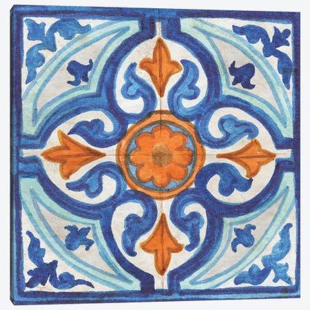 Colorful Tile I Canvas Print #EME213} by Elizabeth Medley Canvas Wall Art