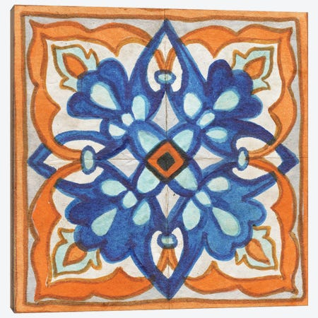 Colorful Tile II Canvas Print #EME214} by Elizabeth Medley Canvas Print
