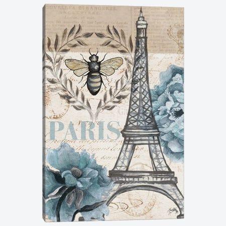 Paris Bee I Canvas Print #EME218} by Elizabeth Medley Canvas Art